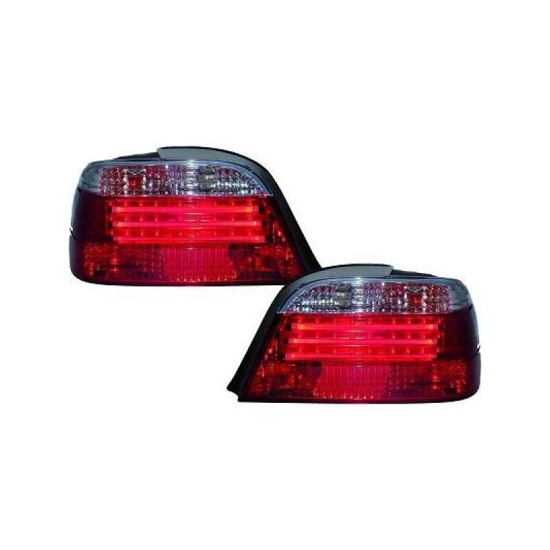 Feux arrières rouge/blanc LED Bmw E38 94-01