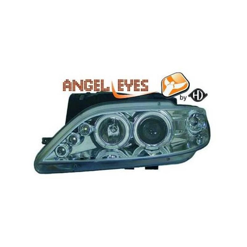 Phares angel eyes chrome Citroen XSARA 97-99