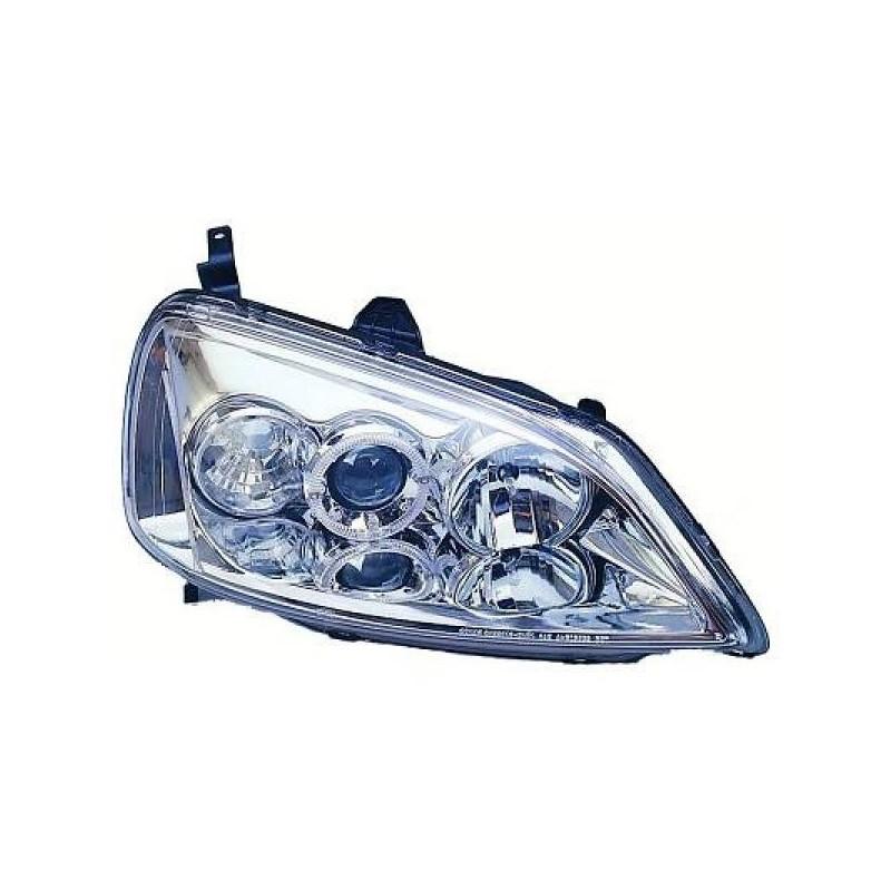 Phares design angel eyes chrome Honda CIVIC 01-03