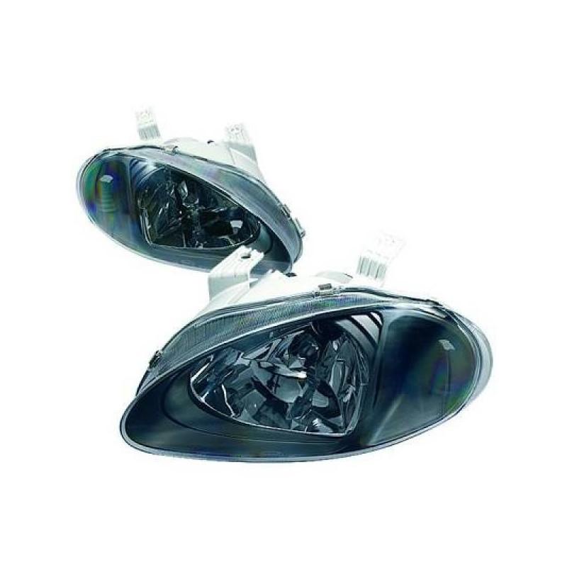 Phares design noir Honda CIVIC DEL SOL 92-97