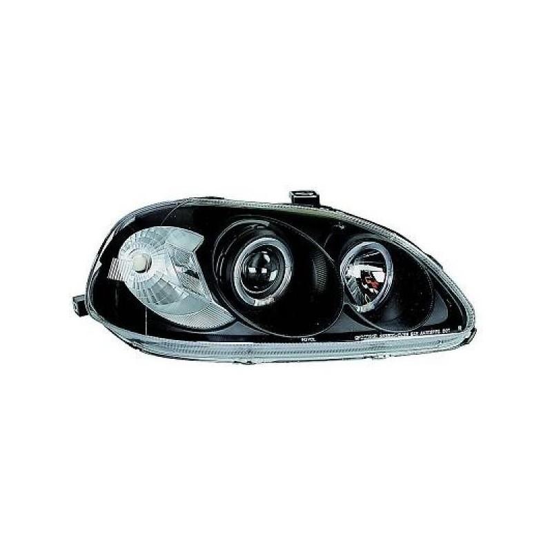 Phares angel eyes noir . Honda CIVIC 95-99