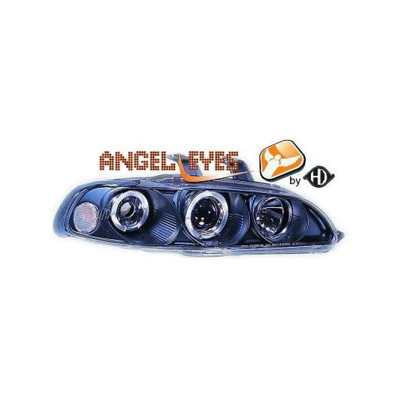 Phares angel eyes noir Honda CIVIC 92-95
