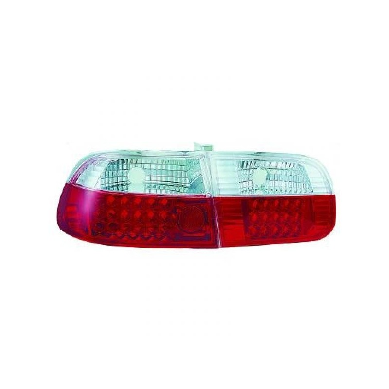 Feux arrières rouge/blanc LED Honda CIVIC 3-portes 92-95