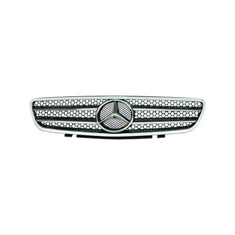 Calandre Mercedes R230 01-12 chrome/noir SPORTLOOK AMG OPTIK