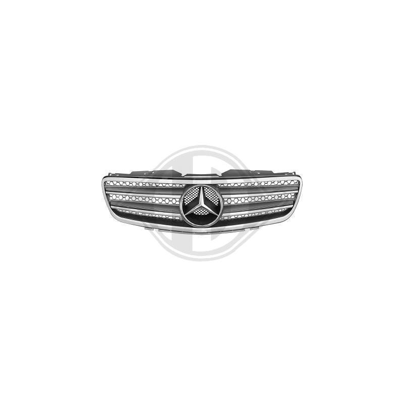Calandre Mercedes R230 01-12 chrome/argent SPORTLOOK