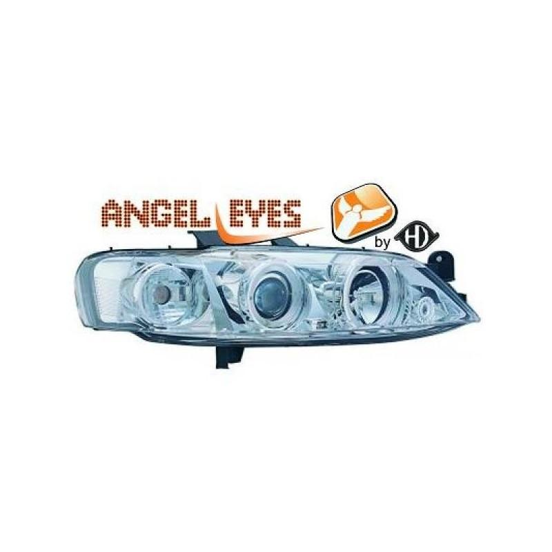 Phares angel eyes chrome Opel VECTRA 99-02