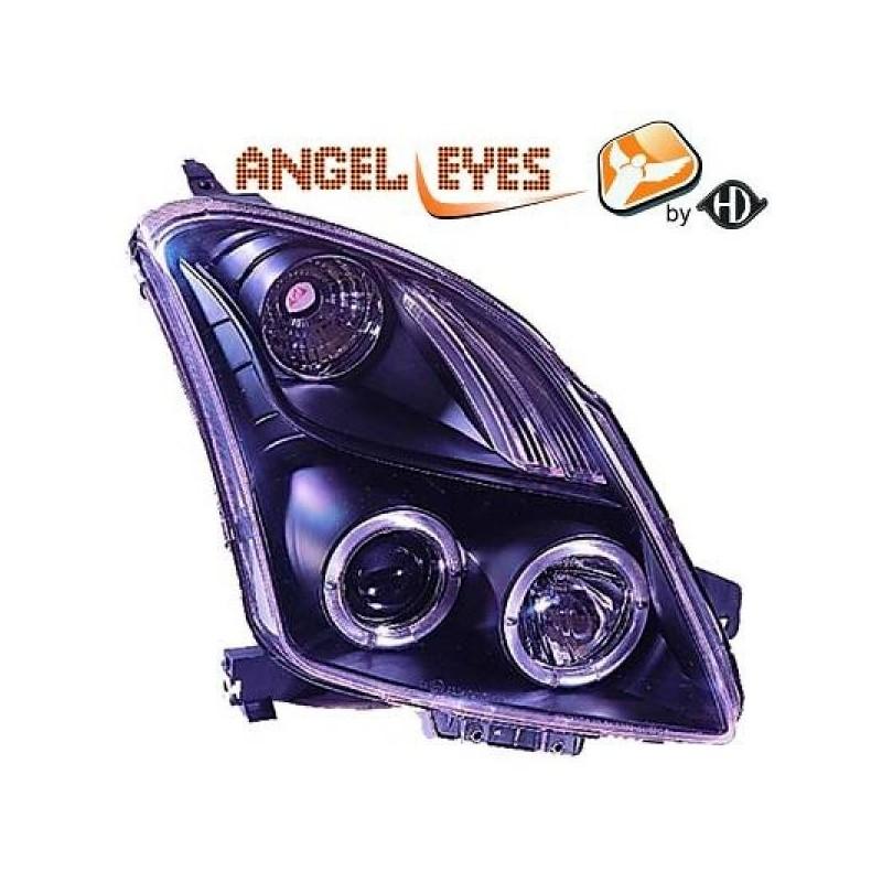 Phares angel eyes noir Suzuki SWIFT 05-10