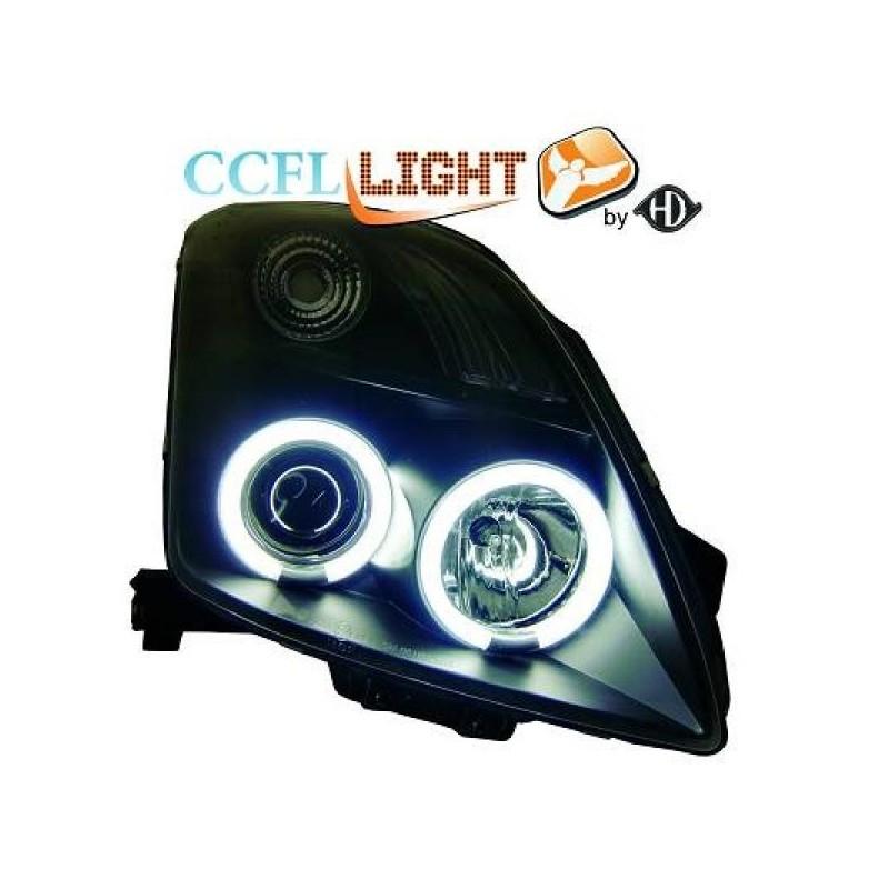 Phares angel eyes CCFL noir Suzuki SWIFT 05-10