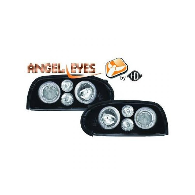 Phares angel eyes noir Look GOLF 4 Vw GOLF 3 91-97