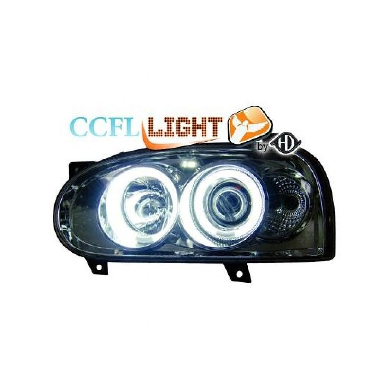 Phares angel eyes CCFL chrome Vw GOLF III 92-97
