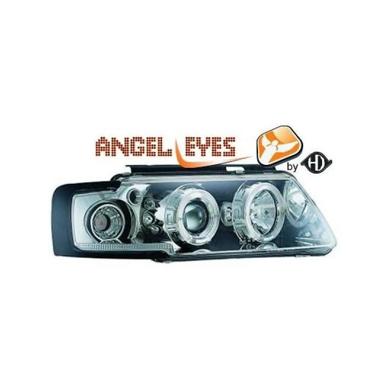 Phares angel eyes chrome Vw PASSAT 96-00