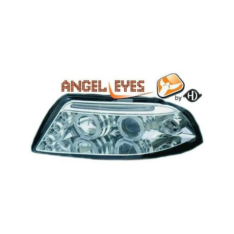 Phares angel eyes chrome Vw Passat Lim./Kombi 00-05
