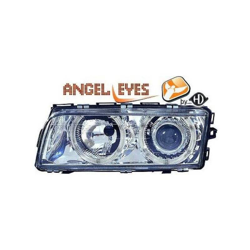 Phares angel eyes chrome Bmw E38 94-98
