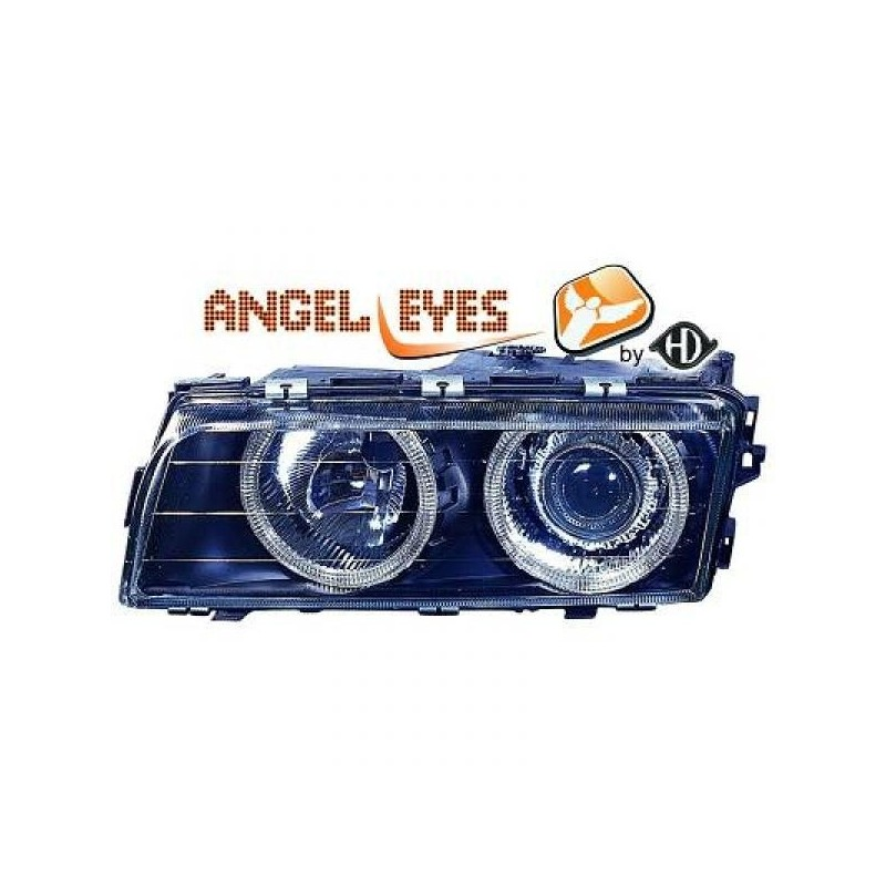 Phares angel eyes noir DE + Bmw E38 94-98