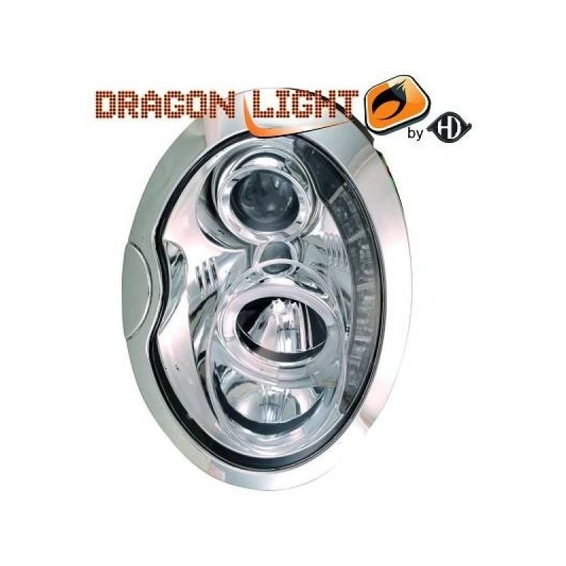 Phares DEVIL EYES LED chrome MINI 01-06