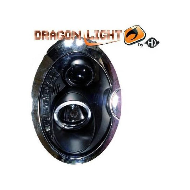 Phares design noir MINI 01-06 noir optique TFL