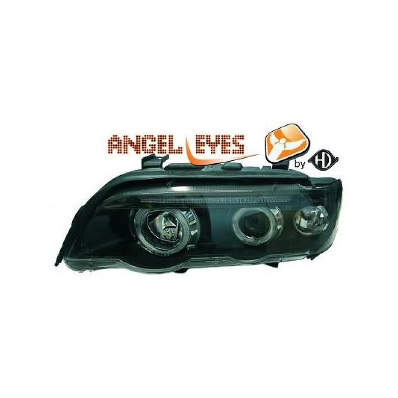Phares angel eyes noir Bmw X5 99-03