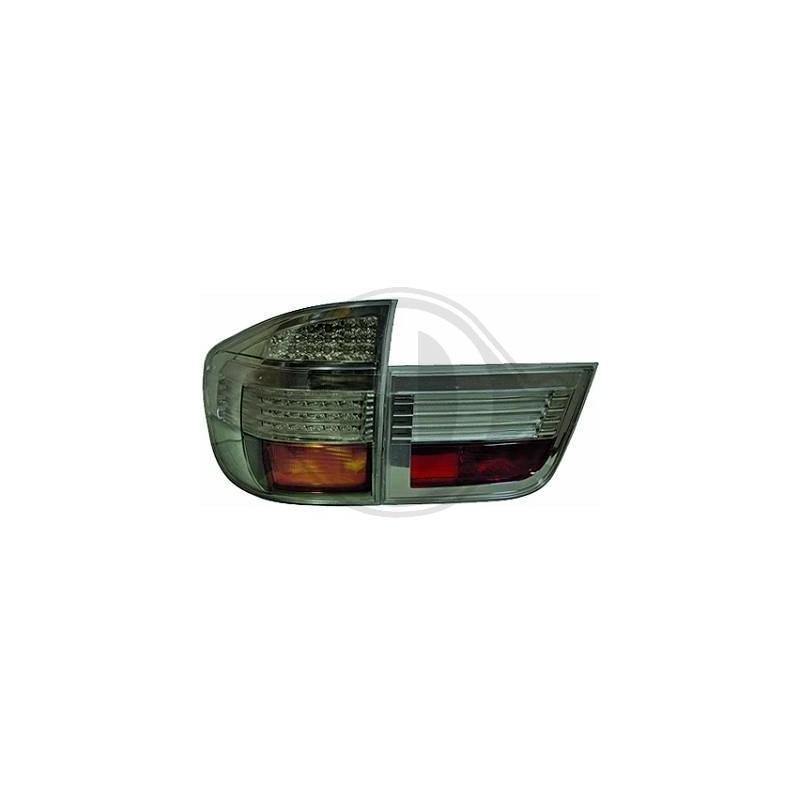 Feux arrières design LED BMW X5 07-10 LED cristal/fumé