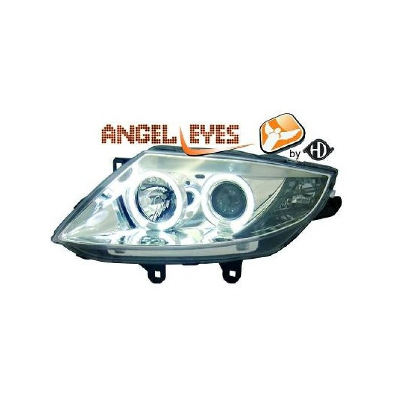 Phares angel eyes chrome Bmw Z4 03-09
