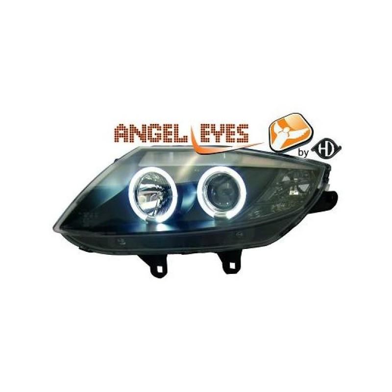 Phares angel eyes noir Bmw Z4 03-09