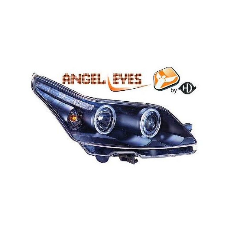 Phares angel eyes noir Citroen C4 04-09 3-portes