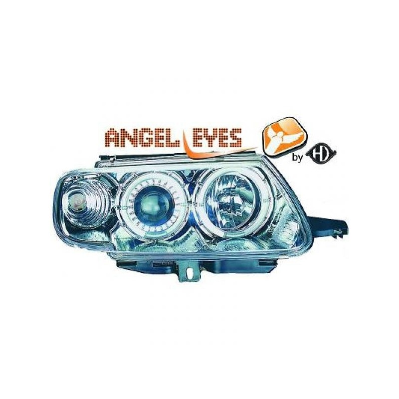 Phares angel eyes chrome CELIS Citroen SAXO 96-99