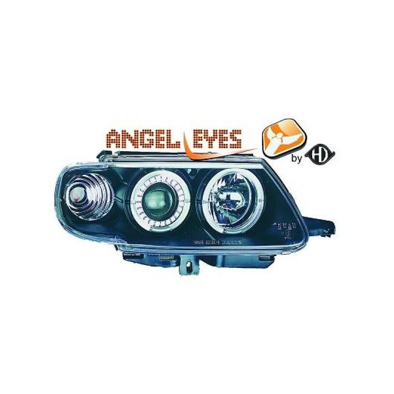 Phares angel eyes noir CELIS Citroen SAXO 96-99