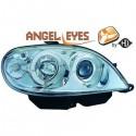 Phares angel eyes chrome Citroen SAXO 99-03