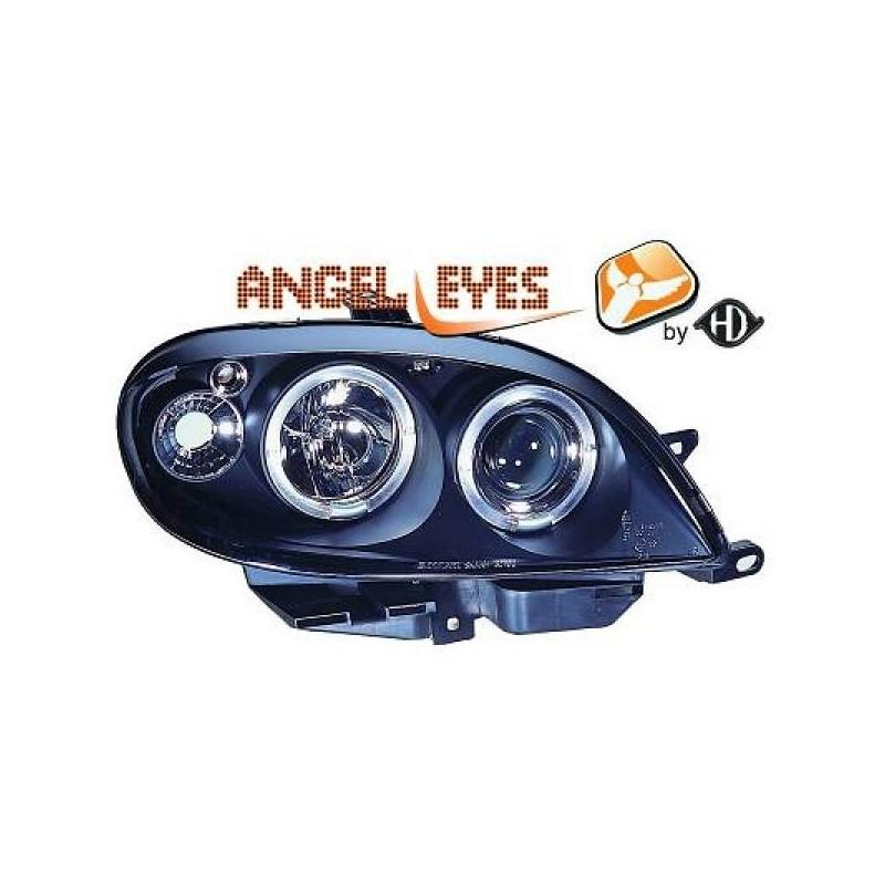 Phares angel eyes noir Citroen SAXO 99-03