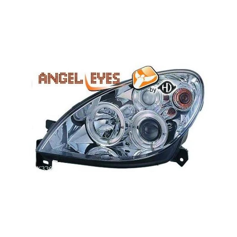 Phares angel eyes chrome Citroen XSARA apres 1999