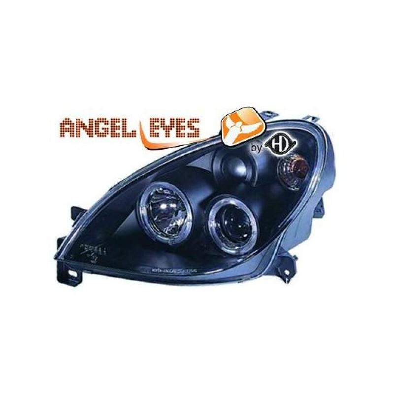 Phares angel eyes noir Citroen XSARA apres 1999