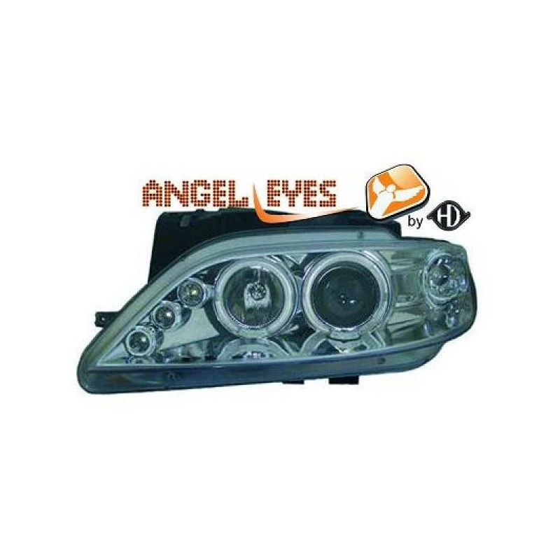 Phares angel eyes chrome Citroen XSARA 97-99
