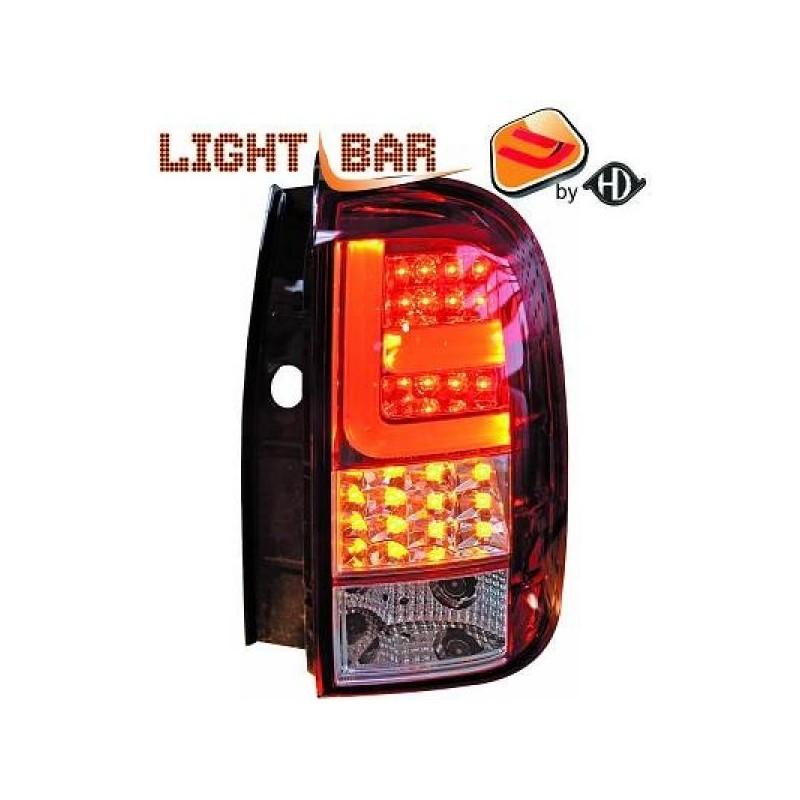 Feux arrière Dacia DUSTER apres 2011 LED/cristal/rouge-blanc
