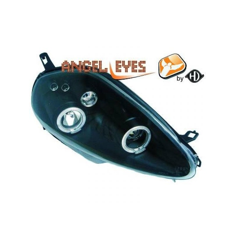 Phares angel eyes noir Fiat Grande PUNTO 05-10.08