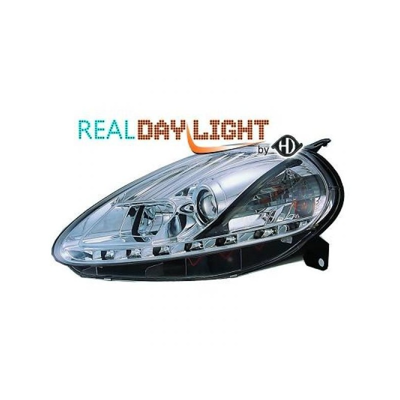 Phares DEVIL EYES LED Fiat PUNTO 08-09 chrome