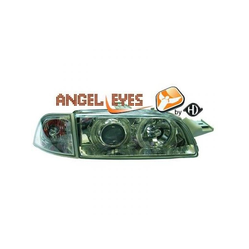 Phares angel eyes chrome Fiat PUNTO 93-99