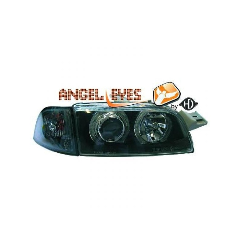 Phares angel eyes noir Fiat PUNTO 93-99