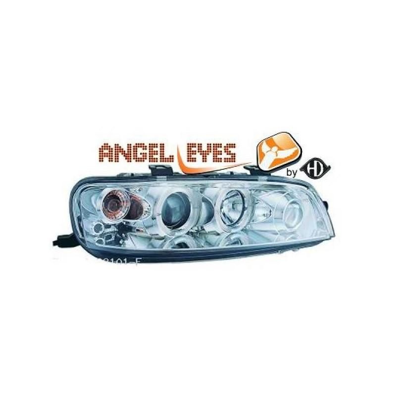Phares angel eyes chrome Fiat PUNTO 99-03