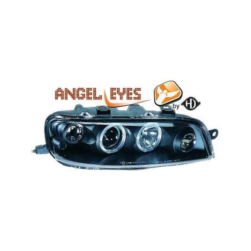 Phares angel eyes noir Fiat PUNTO 99-03