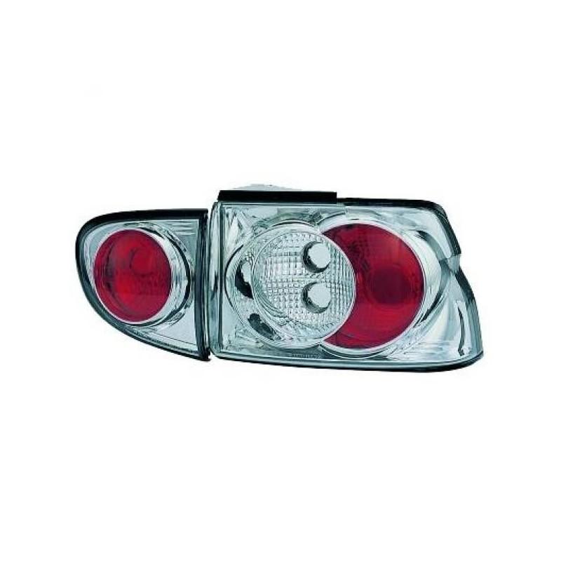 Feux arrières cristal/chrome Ford ESCORT 3/5-portes 95-00