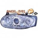 Phares angel eyes chrome . Ford ESCORT 95-99