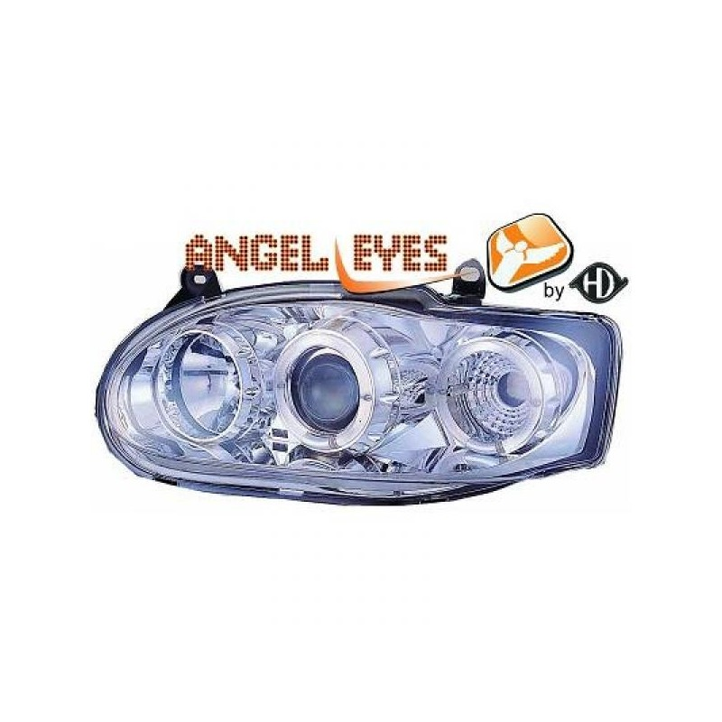 Phares angel eyes chrome . Ford ESCORT 95-99