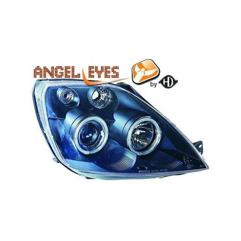 Phares angel eyes noir Ford FIESTA 02-05