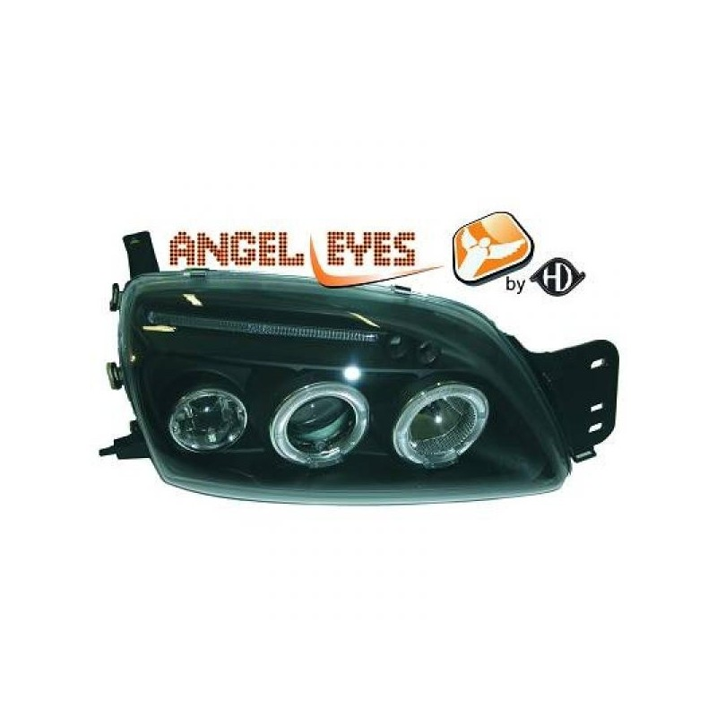 Phares angel eyes noir . Ford FIESTA 99-02