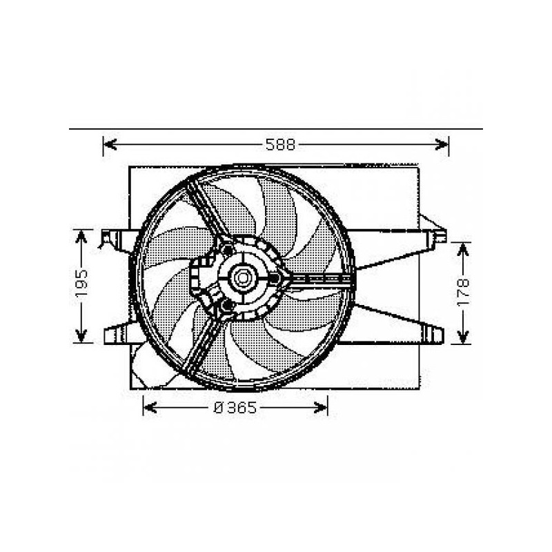 Motoventilateur complet FORD FIESTA 2002 à 2008