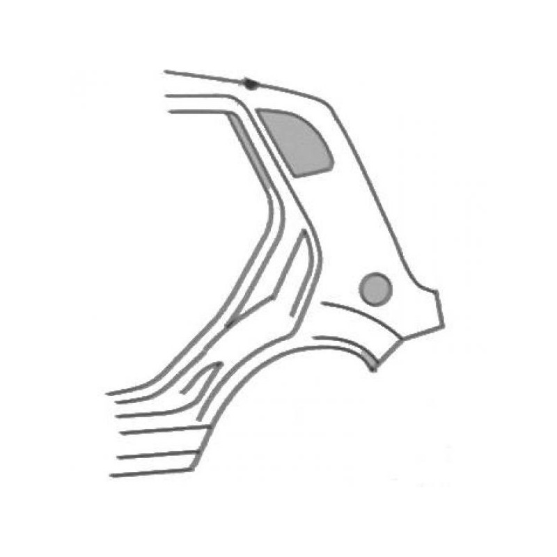 Aile arrière gauche (CONDUCTEUR) FORD FIESTA 2002 à 2008