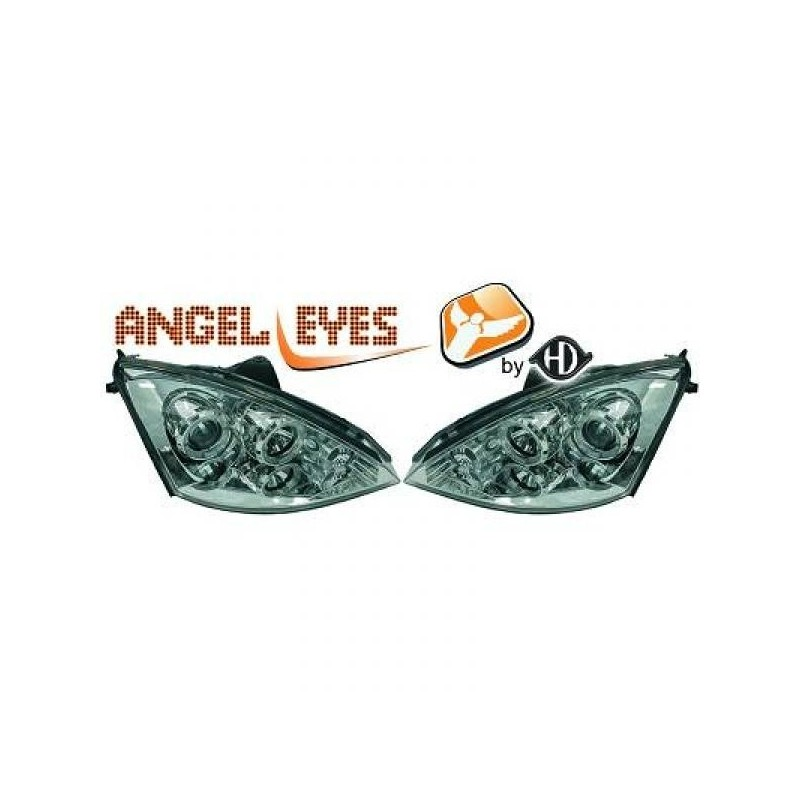 Phares angel eyes chrome Ford FOCUS 01-05