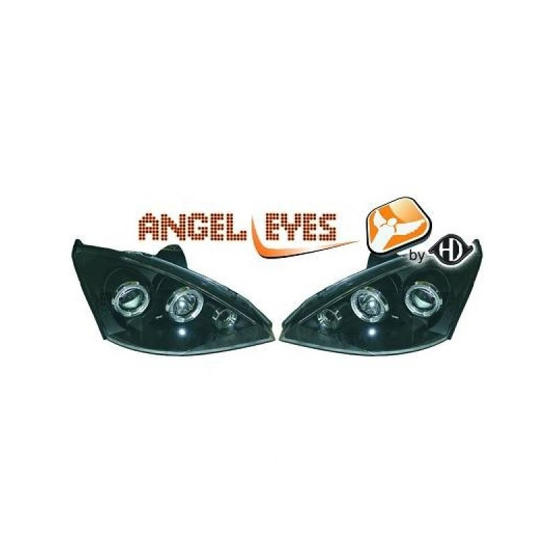 Phares angel eyes noir Ford FOCUS 01-05