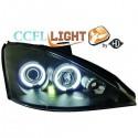 Phares angel eyes CCFL noir Ford FOCUS 98-00 cristal/noir