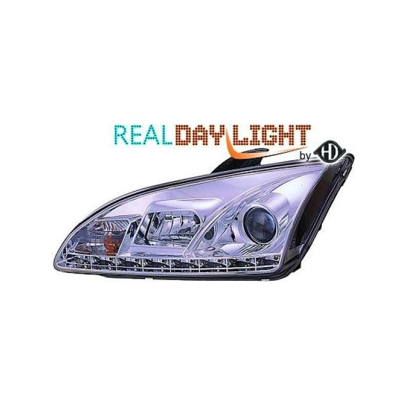 Phares DEVIL EYES Ford FOCUS 04-08 cristal/chrome